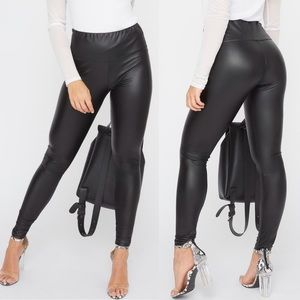 Charlotte Russe Vegan Leather High Rise Leggings